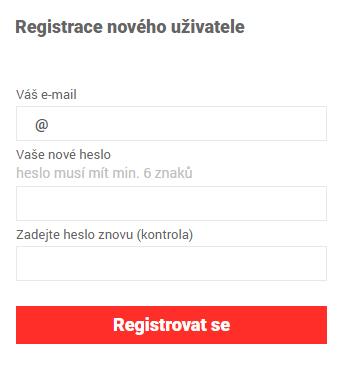 Registrace - krok 2