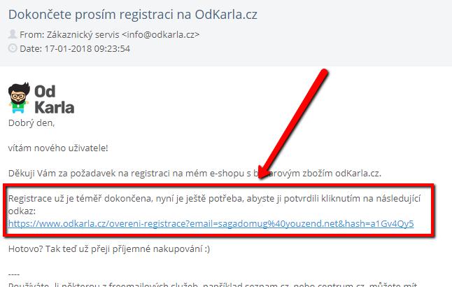 Registrace - krok 3